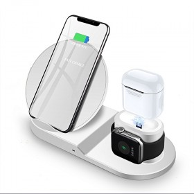 Generic 3 in 1 Wireless Charging Station USB Fast Charge Stations Phone Holder