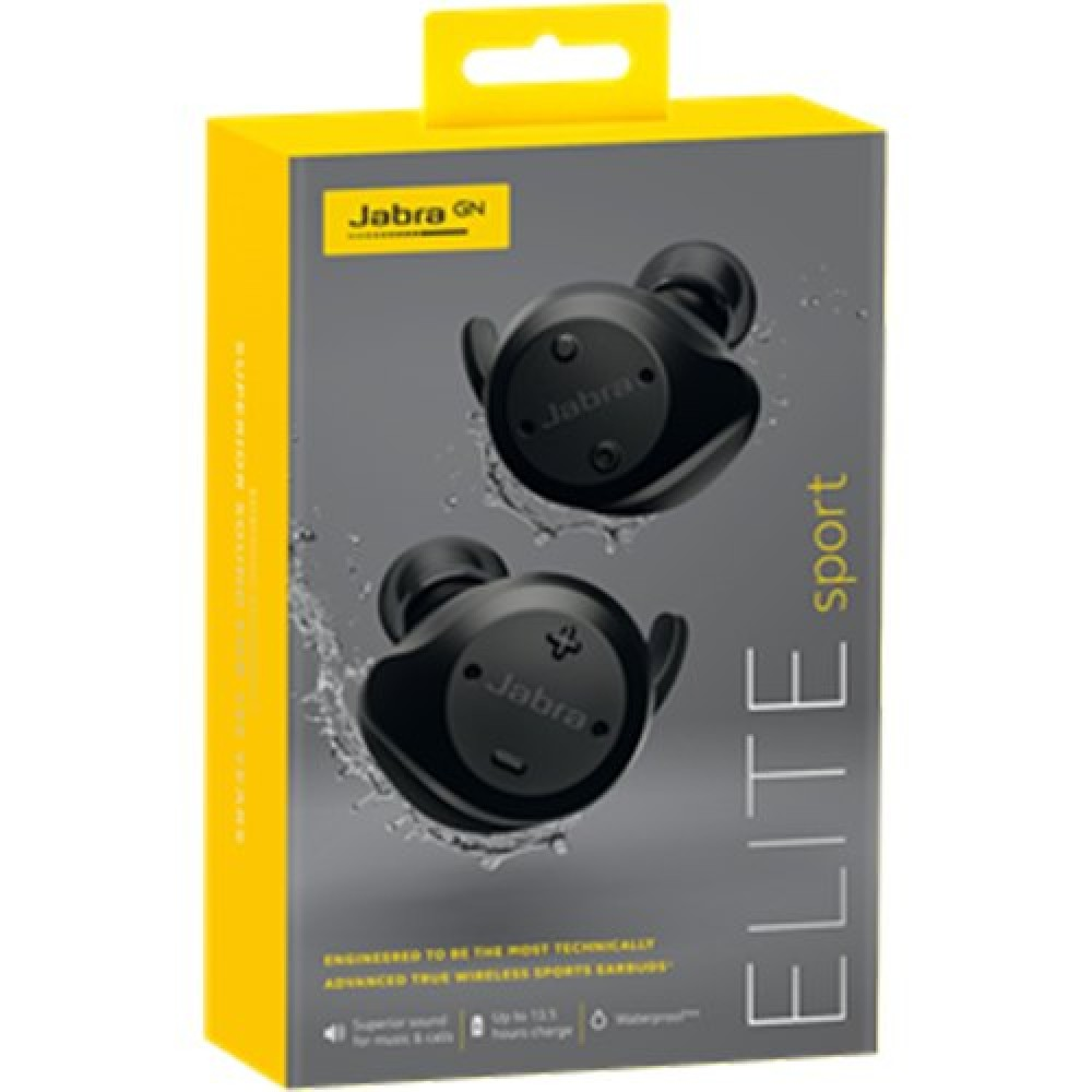 f13bce6d6c6 Jabra Elite Sport In-Ear Noise Cancelling Wireless Earbuds - Black ...
