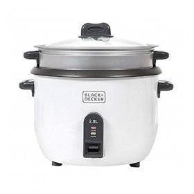 Black & Decker RC2850-B5 2.8 Liter Non-Stick Rice Cooker, White