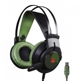A4Tech Bloody J437 Gaming Headphone With Anti-Winding Wire Color – Army Green