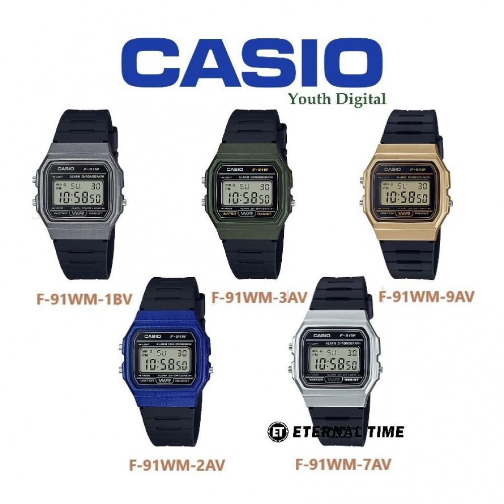 3964f24fcd1 Casio F-91WM-9A Vintage Series Youth Digital Wrist Watch available ...