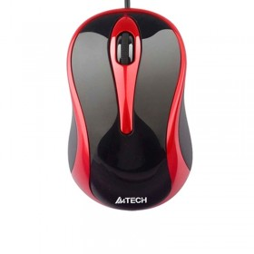 A4Tech Optical Mouse Black/Red (N-350)