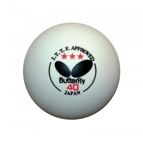 Butterfly White 3 Star Table Tennis Balls
