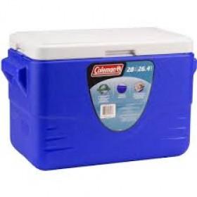 Coleman 28QT Cooler Molded Handles Blue 4