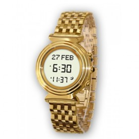 Al Fajr Ladies Digital Azan Watch WF-14S Round