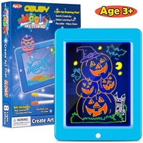 Kids Magic Pad Light Up Glow Drawing Board