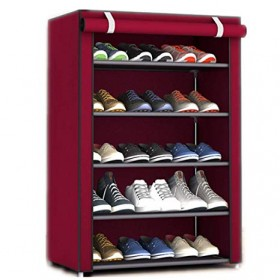 5 Layer Shoes Rack With Cover