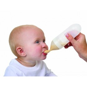 Baby Feeding Silicone Spoon Bottle (Pack2)