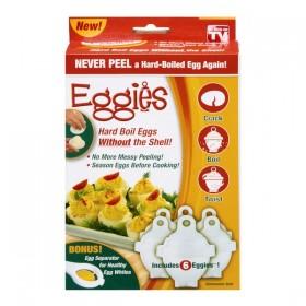 Eggies Never Peel a Hard-Boiled Egg Again