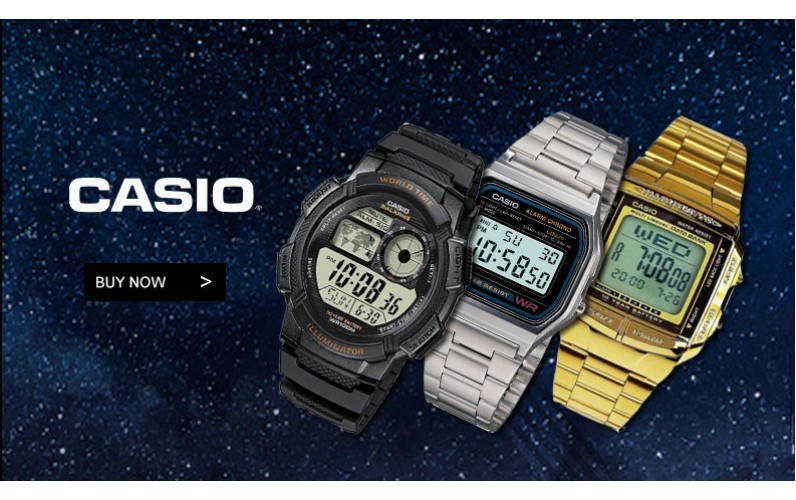 Casio watches banner
