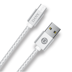 DANY  B-550 (BRAIDED LEATHER-ANDROID CABLE)