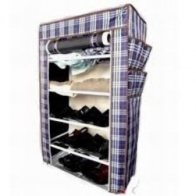 Portable Folding Wardrobe Cum Shoe Rack 5 Layer