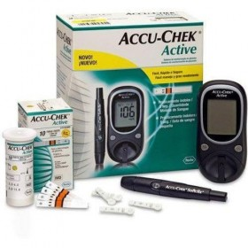 Accu-Chek Gluco Meter Active With 10 Strips