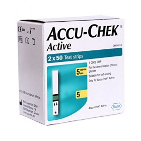 Accu-Chek Active Test Strip Box - 100 Pcs