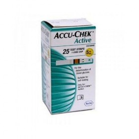 Accu-Chek Active Test Strip Box - 25 Pcs