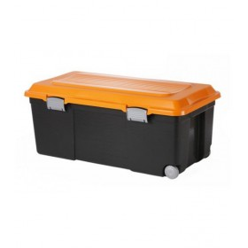 Rotho Camper Storage Box Rectangular (Black/Orange)