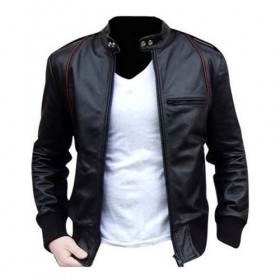 Hawk&Bull Black & Red Leather Jacket