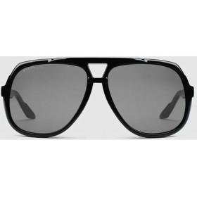 GUCCI Large Aviator Sunglasses
