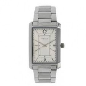 Titan Analog White Dial Men's Watch - 1697SM01